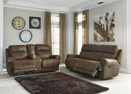 reclining living room furniture sets. Ashley Furniture Austere Brown Reclining Living Room Set Sets