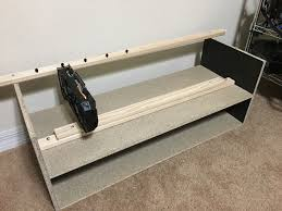 done in an hour with a target shoe rack 12 and few s and 1 5 wood furring strip from homedepot can support up to 9 10 gpus