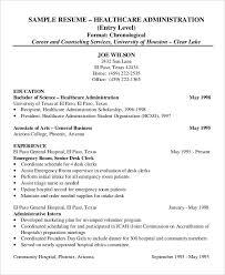 Health Administration Sample Resume 15 Healthcare