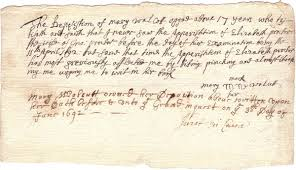 the m witchcraft papers volume verbatim transcipts of the  elizabeth proctor