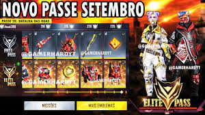 PASSE DE ELITE SETEMBRO 2020 FREE FIRE (COMPLETO) - YouTube