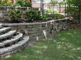 ... Charming Garden Decoration Using Retaining Wall Landscaping Ideas :  Exciting Image Of Garden Design And Decoration ...