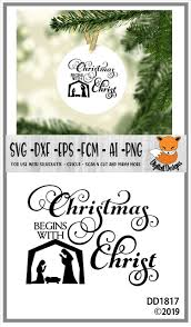 Download free christmas vectors and other types of christmas graphics and clipart at freevector.com! Christmas Begins With Christ Nativity Scene Svg 377428 Cut Files Design Bundles