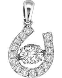 kelly herd sterling silver dancing diamond dangle pendant silver hi res