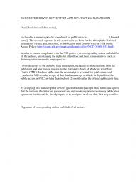 Cover Letter For Paper Submission Cover Letter For Publication