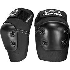 187 Killer Pads Slim Black Elbow Pads Small