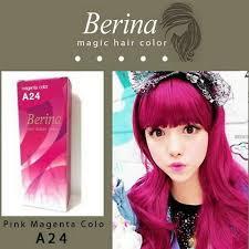 berina a24 permanent hair dye pink