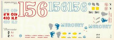 Fred Cady Design 15 Parnelli Jones 16 Mercury 1963 1 25th Scale Decal Fred
