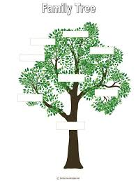 Drawing A Family Tree Template Tree Outline Printable Free Printable Family Tree Template