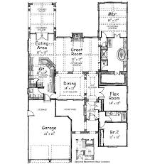 Maywood Spanish Style Home Plan D    House Plans and MoreUnique Spanish Style Home  Traditional House Plan First Floor   D    House Plans and More