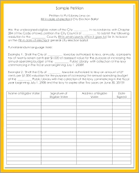 Signature Sheet Template Petition Sheet Template Policy