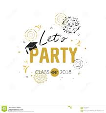 Class Party Invitation Graduation Class Of 2018 Greeting Card And Invitation Template