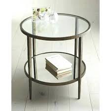 glass side table round metal glass side table round side table shelves be nice and night glass side table round