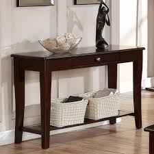wooden console table with one drawers