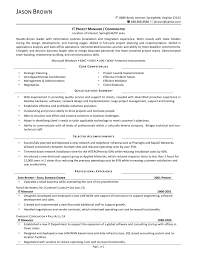 Sample Resume For Information Technology Manager New Alluring
