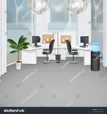 graphic design office. Modern Office - Vector Illustration, Graphic Design Editable For Your