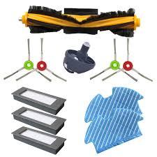 <b>Filters Side</b> Brushes <b>Main Brush</b> For Ecovacs Deebot Ozmo 900 ...