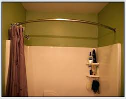 brushed nickel shower curtain rod small curved shower rod image of curved shower curtain rod brushed
