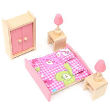 brand baby wooden doll house furniture miniature bedroom for kids children play furniture toy gift cheap wooden dollhouse furniture
