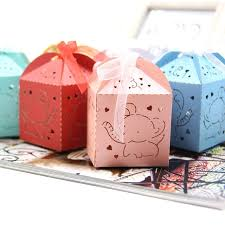 20pcs cute elephant candy box diy paper gift boxes party favors for kids birthday wedding party decoration baby shower supplies
