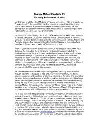 Ambassador Cv C M Bhandaris Detailed Cv Full