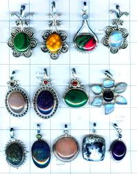 these are free size gemstone pendants in sterling silver and semi precious gemstone volume of these pendants is indian rus 59 00 per gram