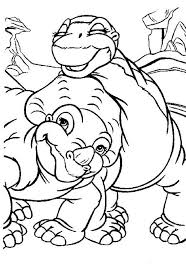 Small Picture Land Before Time Cera and Little Foot Land Before Time Coloring