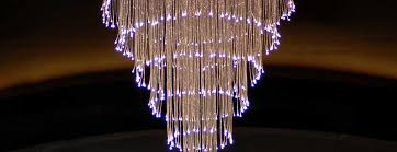 fiber optic chandelier in the rendezvous