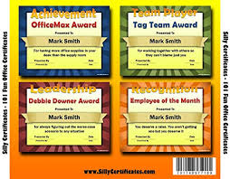 Office Award Amazon Com Silly Certificate Software Customize And Print 101 Fun
