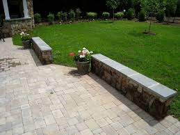 paver patio and building stone seating wall in falls church