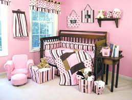 beautiful pink and brown crib bedding set for your house design blue green