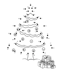 Medium Christmas Tree Dot To Dot activity page. Plus more than 15 medium  free online kids games suitable for kids aged