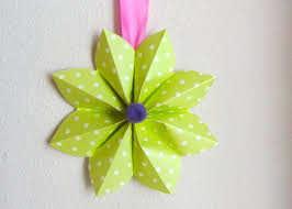 Folding Paper Flower How To Fold A Origami Paper Flower Decoration For A Party Or Decor