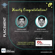 Congratulations to our Mechanical Department students Harinandan ...