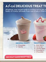 wendy s chocolate frosty