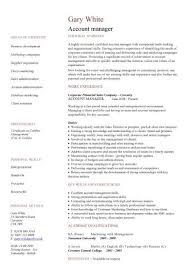 account manager cv example manager resumes samples