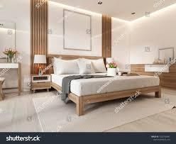 Modern Light Wood Furniture Modern Light Bedroom Wooden Furniture Scandinavian Stock