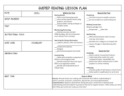 Guided Reading Lesson Plan Template Aplg Planetariums Org