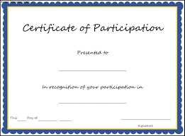 29 Images Of Participation Award Certificate Template Tonibest Com