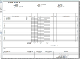 003 Electrical Panel Schedule Template Excel Wnypje Fearsome
