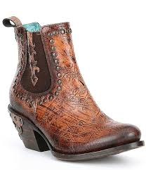 Corral Size Chart Corral Boots Kaitlyn Leather Crackled Block Heel Ankle Boots