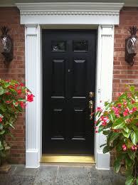 White Door Black Trim Decoration Ideas Amazing White Classy Paneled Pilaster Front Door