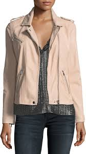 rebecca taylor zip front leather moto jacket