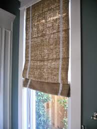Tips Classic Burlap Roman Shades For Interior Windows Decor Ideas Burlap Window Blinds
