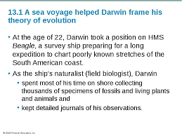 Darwin S Theory Of Evolution Chart Pearson Darwins Theory Of Evolution
