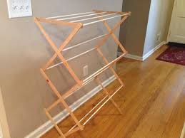 two it yourself diy laundry drying rack wall mount from floor standing