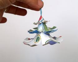 Paper Christmas Tree Ornaments Make A Colorful Christmas Tree Ornament Christmasornamentscom Blog