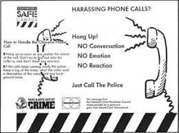 Image result for harassing calls or messages