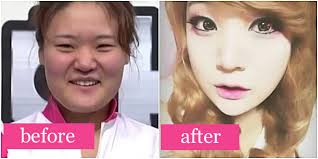 before after gadis korea tanpa makeup bedanya luar biasa
