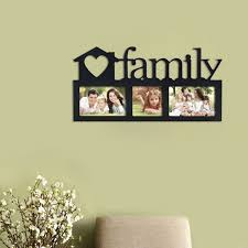 adeco decorative black wood family wall hanging picture photo frame